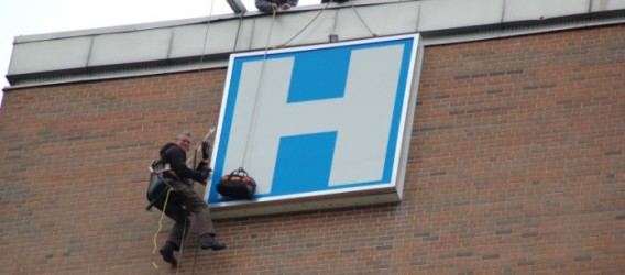 Brantford General Hospital Sign Goes Up