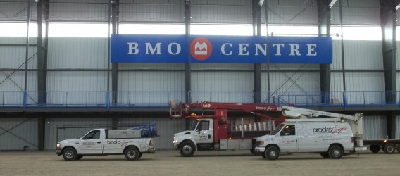 BMO Centre Sign installation, London ON
