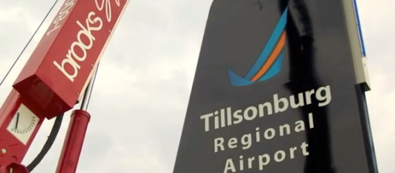 Sign lands at Tillsonburg Airport