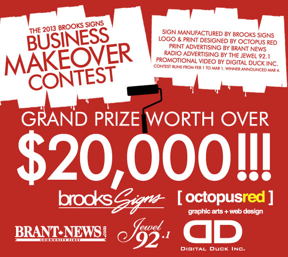 Brooks Signs Business Makeover Contest 2013